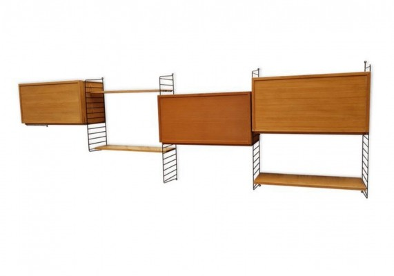 Wall unit by Nisse Strinning for String, 1960s