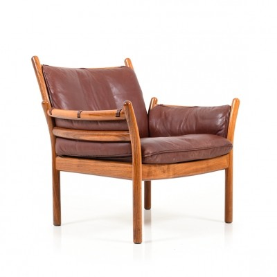Illum Wikkelso Rosewood Lounge Chair Model Genius for CFC Silkeborg