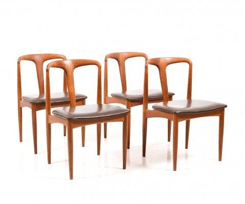 Set of Four 'Model Juliane' Dinning Chairs by Johannes Andersen