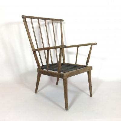 Wooden armchair from the sixties
