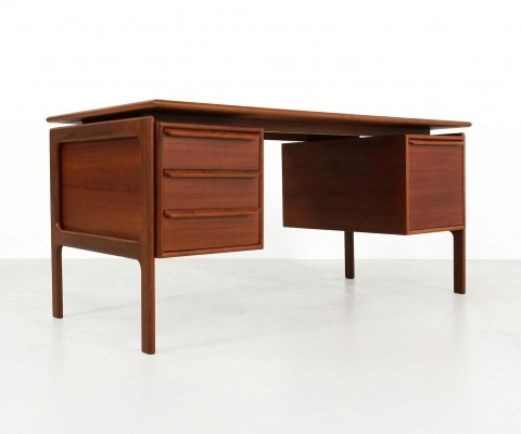 Danish teak desk by GV Gasvig for GV Møbler