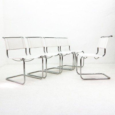 Lot of five S33 Cantilever Chairs by Mart Stam for Thonet