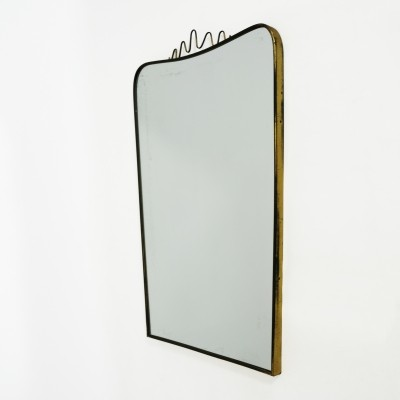 Golden framed mirror, Italy 1950's-1960's