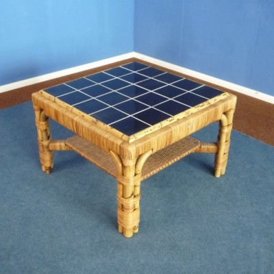 Rattan & Bamboo Coffee Table from Arco, 1940s