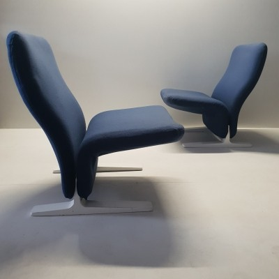Pair of Concorde F780 lounge chairs by Pierre Paulin for Artifort, 1960s