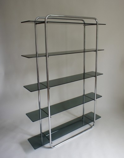 Tubular Glass Shelving cabinet, 1970s