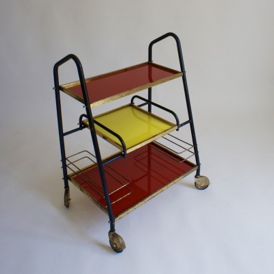 Red & Yellow 1960's Drinks Trolley
