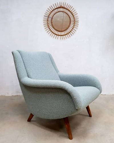 Vintage 'Ice blue' lounge chair, 1960s