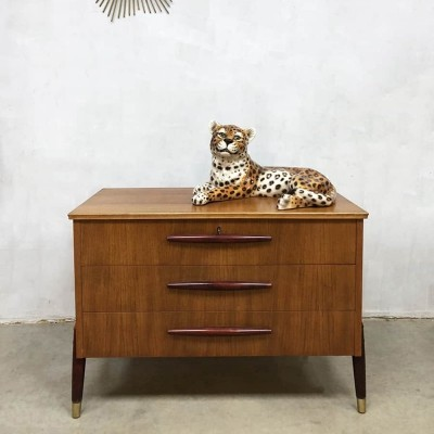 Midcentury design chest of drawers cabinet