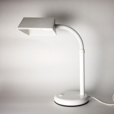 Perforated desk lamp by Elco, Netherlands 1970s