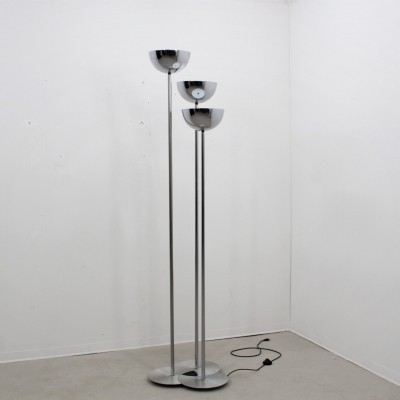 Vintage big chrome floor lamp by Lamperti, 1970s