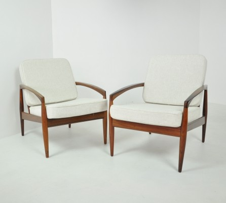 Pair of 'Paper Knife' Easy Chairs by Kai Kristiansen, Denmark 1963
