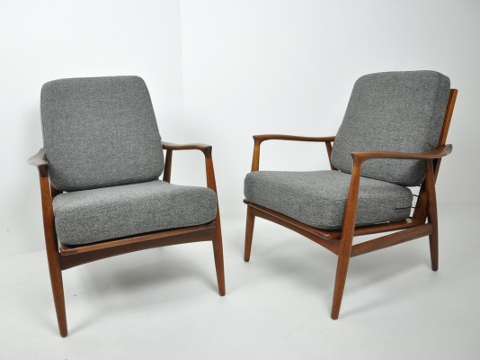 Pair of Easy Chairs by Glostrup, Denmark 1960s