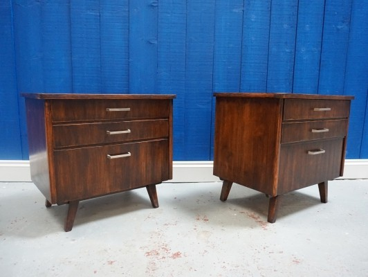 Pair of Mid Century Bedside Cabinets, 1960s