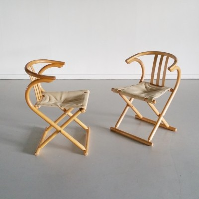 Set of 2 Thonet Folding Chairs, 1960s