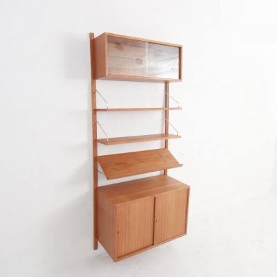 Royal Wall unit in teak & brass by Poul Cadovius, Denmark 1960s