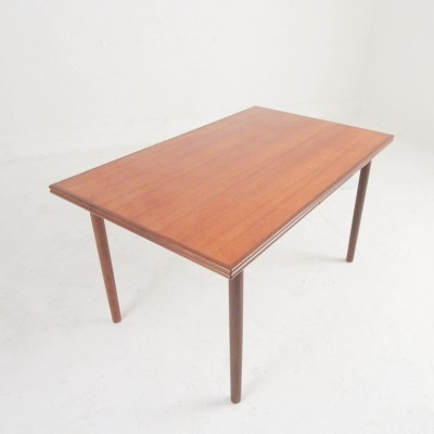 Dining table in teak & rosewood with extension, 1960s
