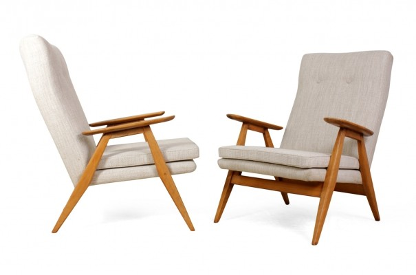 Pair of French Mid Century Armchairs