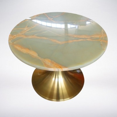 Italian Mid-Century Round Coffee Table by Angelo Mangiarotti for Bernini, 1961