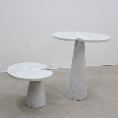 Vintage set of 2 occasional tables by Angelo Mangiarotti for Skipper, 1970s