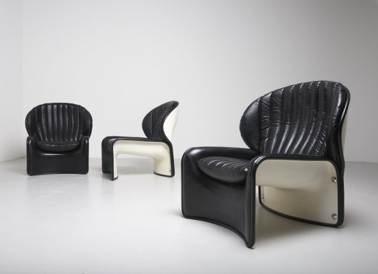 Set of 70's 'Lotus' chairs by Andre Vandenbeuck