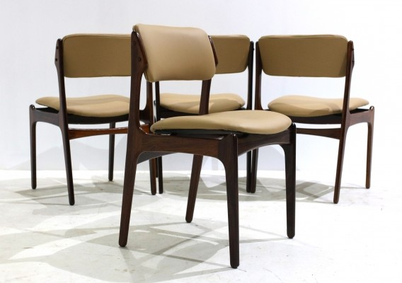 Rosewood Dining Chairs by Erik Buch for Oddense Maskinsnedkeri, 1960s