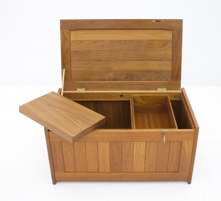 Teak Wood Blanket Box Chest by O Schjøll & B.K. Handest for Randers Denmark, 1966