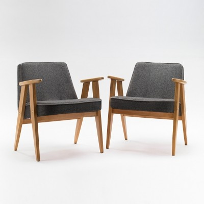 Pair of type 366 armchairs by J. Chierowski