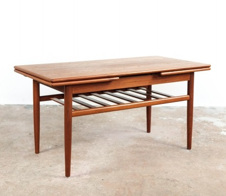 Extendable Danish coffee table in teak, 1960s