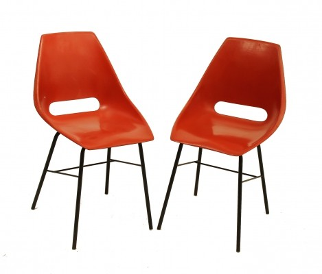 2 x Vertex dinner chair, 1960s