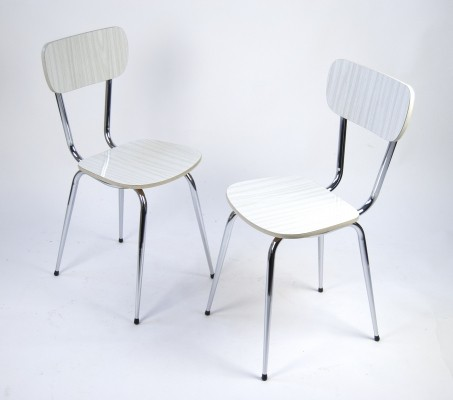 Classical German Resopal Kitchen Chairs, 1960s / 1970s