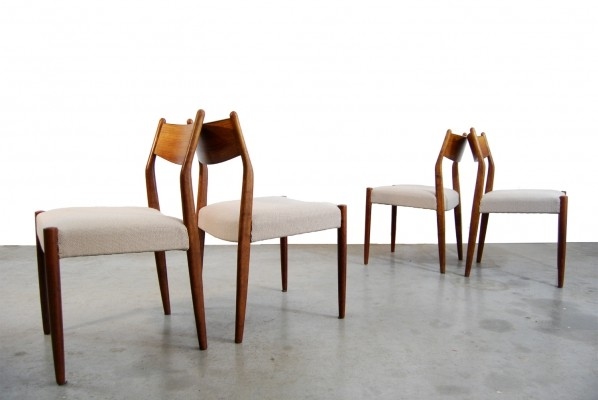 Set of 4 vintage Rosewood dining chairs by Cees Braakman for Pastoe, 1960s