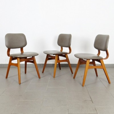 Set of 3 vintage dinner chairs, 1960s