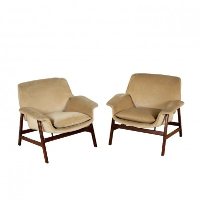 Pair of '849' Armchairs by Gianfranco Frattini for Cassina, 1960s