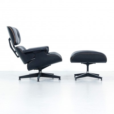 1980s Eames Lounge Chair & Ottoman for Herman Miller