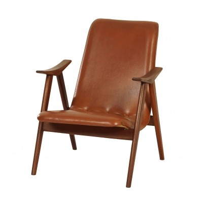 Teak Easy Chair by Louis van Teeffelen for Wébé, ca. 1960