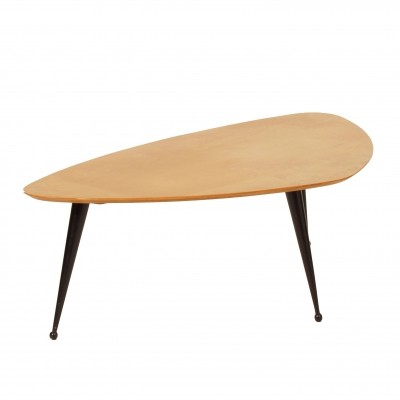 Kidney-Shaped Birch Coffee Table TB39 by Cees Braakman for Pastoe, 1950s
