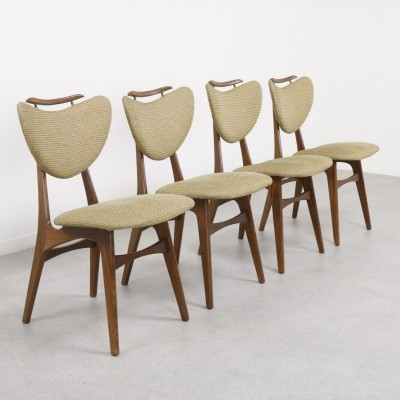 Dutch design heart shaped dining chairs, 1960s