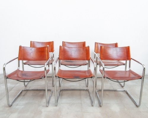 Set of 6 'MG5' chairs Marcel Breuer by Matteo Grassi, 1970s