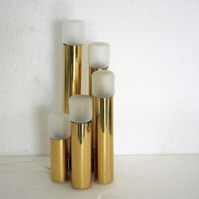Brass Sciolari table lamp, 1970s