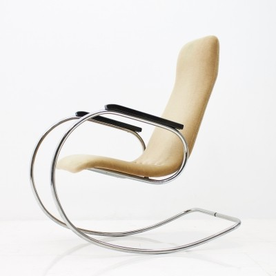 Steel Tube 'S826' Rocking Chair by Ulrich Böhme for Thonet, 1971