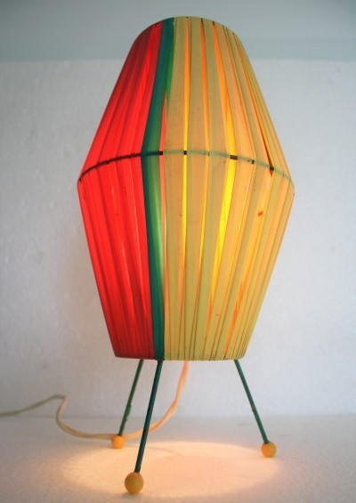 Vintage coloured table lamp, 1950s