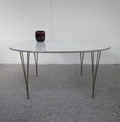Super Ellipse Table by Piet Hein & Bruno Mathsson for Fritz Hansen, 1960s