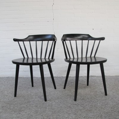 Pair of Småland dinner chairs by Yngve Ekström for Stolab, 1960s