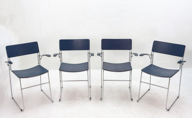 Set of 4 Sultana dining chairs by Arrben Italy, 1980s
