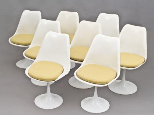 Set of 8 Pastoe dining chairs, 1960s