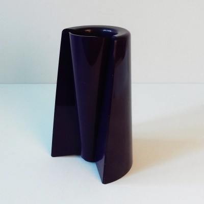 Dark purple 'Pago Pago' reversible ABS vase by Enzo Mari for Danese, Italy 1969