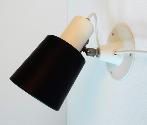 Black & white 'model 7062' Anvia wall lamp, The Netherlands 1960's