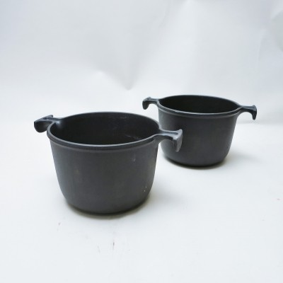 Pair of little casserole dish by Enzo Mari