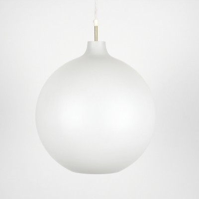 Louis Poulsen vintage Satellite XL opaline hanging lamp by Vilhelm Wohlert